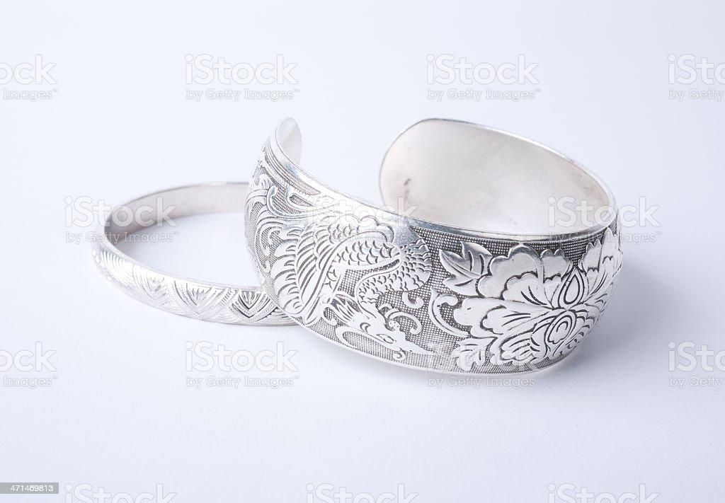Silver Bracelet stock photo