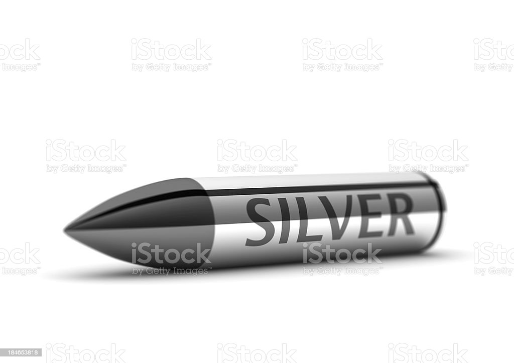 Silver Bullet (ultimate solution) stock photo
