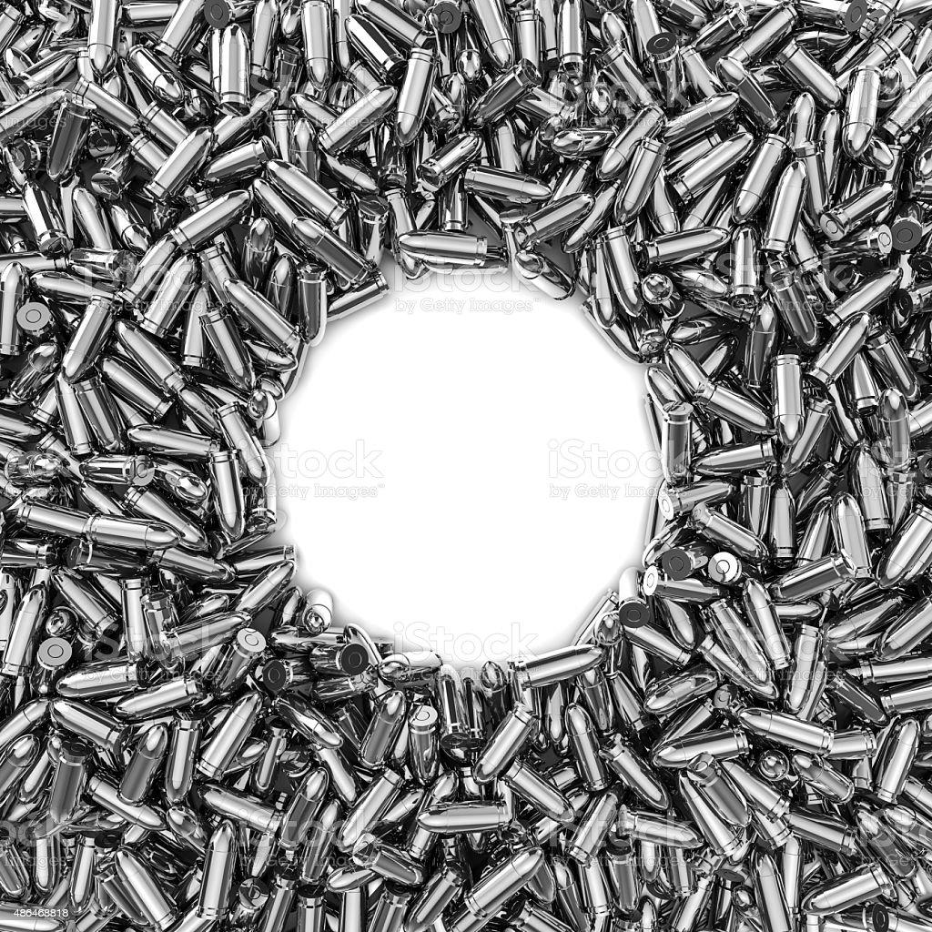 Silver bullets frame stock photo