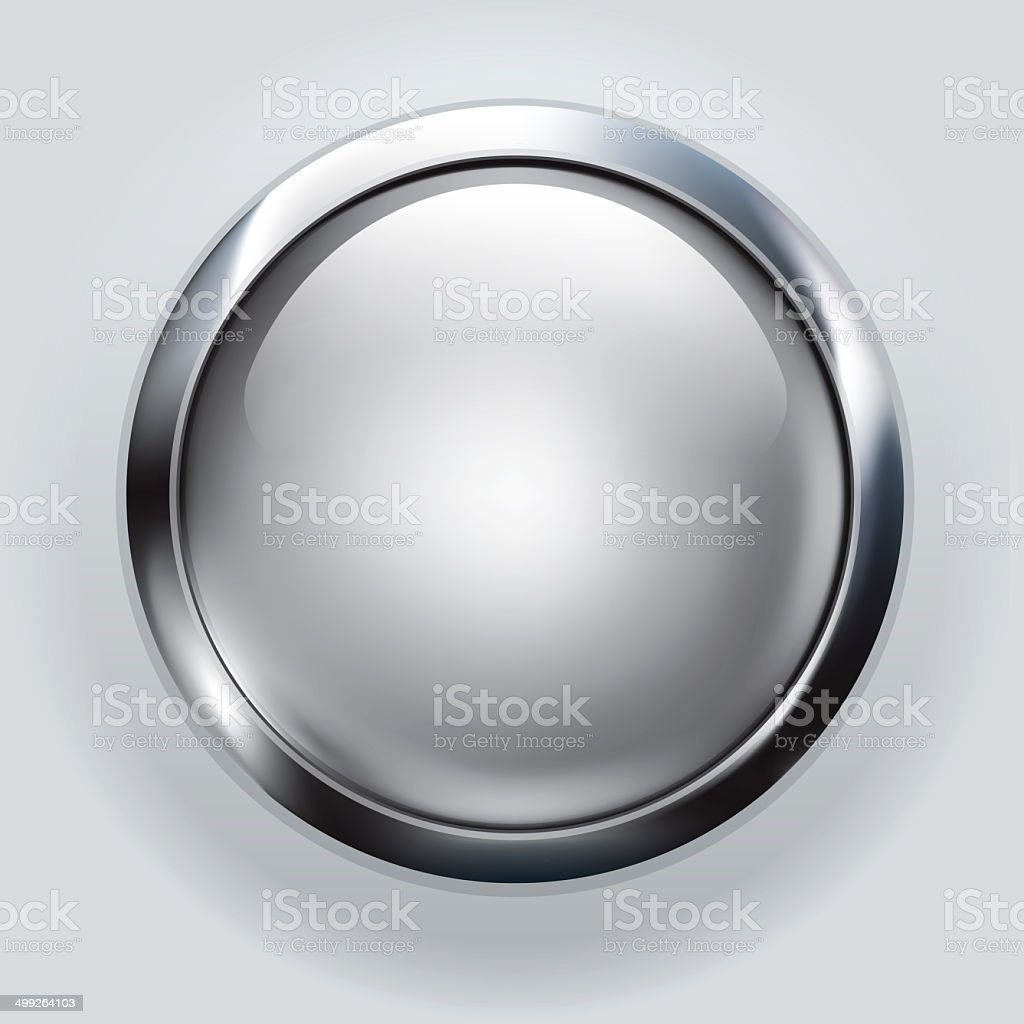 silver button background vector art illustration