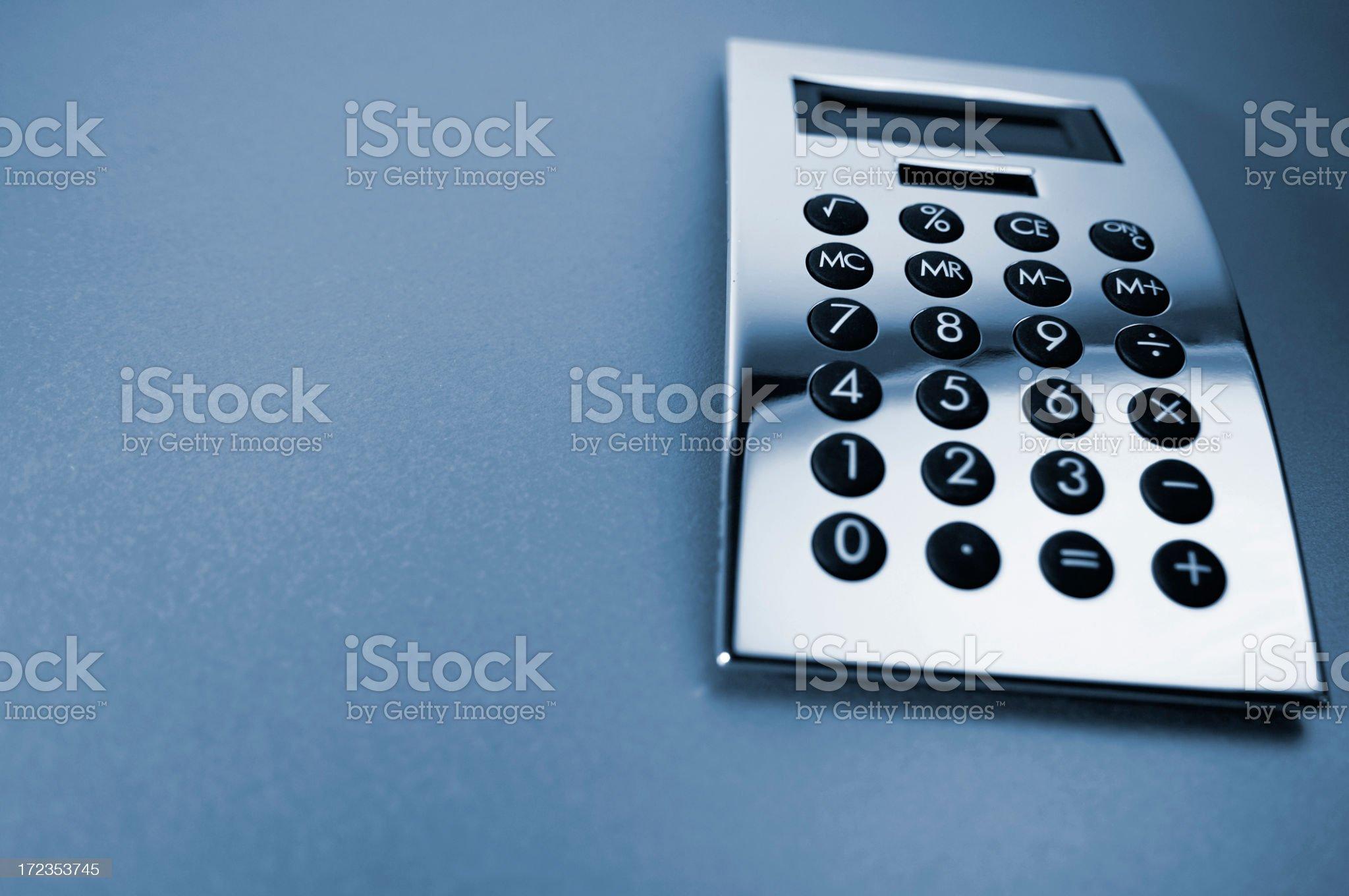 Silver Calculator royalty-free stock photo