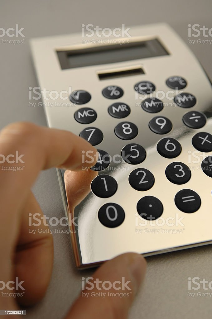 silver calculator series royalty-free stock photo