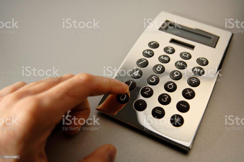 silver calculator series stock photo