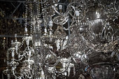 Silver candelabra in the ancient Church