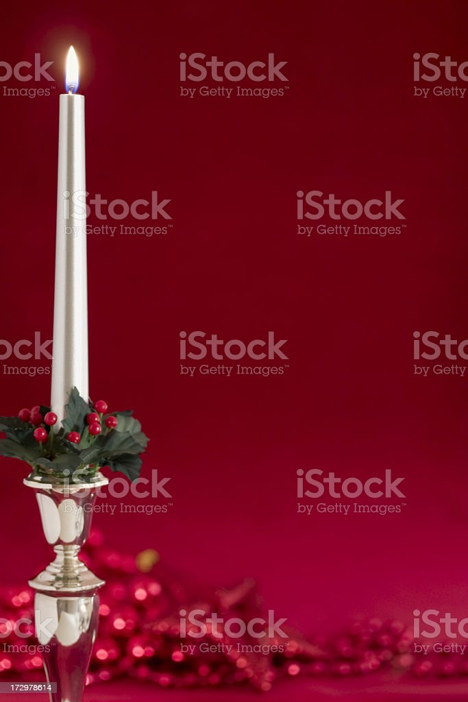 Silver Candle royalty-free stock photo