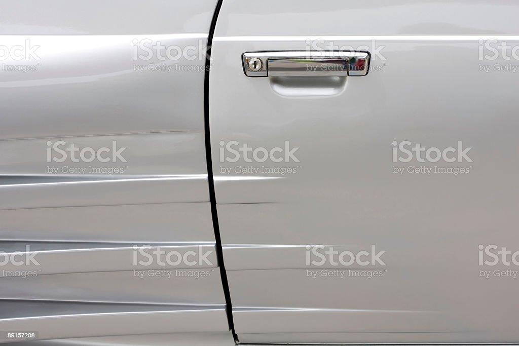 Silver car detail royalty-free stock photo