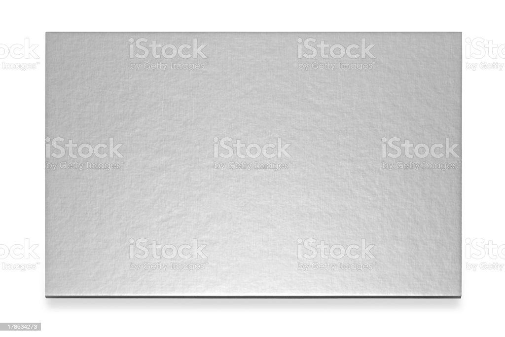 Silver card stock photo