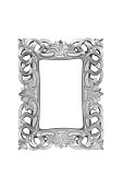 Silver carved picture frame