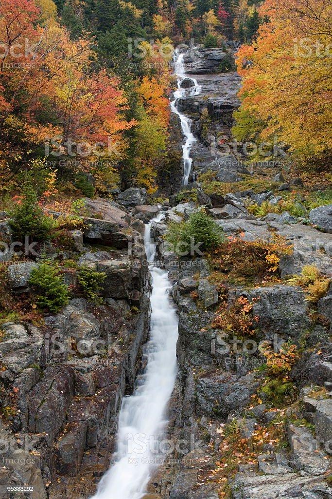 Silver Cascade –Crawford Notch, New Hampshire stock photo