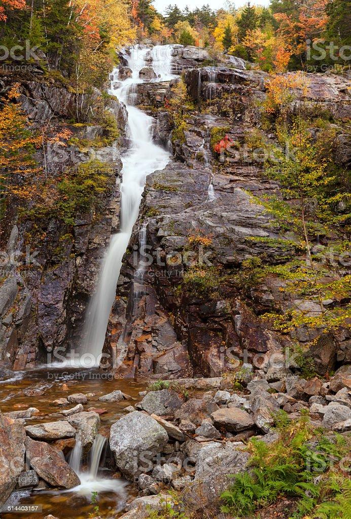 Silver Cascade Falls, White Mountains, New Hampshire (vertical) stock photo