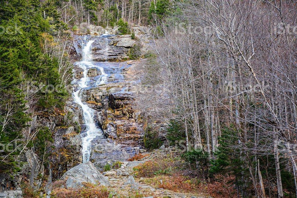 Silver Cascade - Hart's Location, New Hampshire stock photo