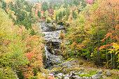 Silver Cascade waterfall wet autumn day