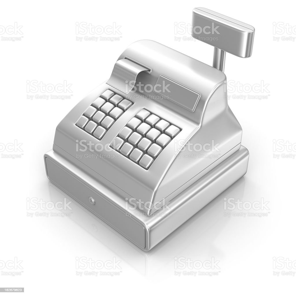 silver cash register icon royalty-free stock photo