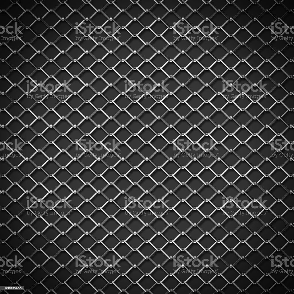 Silver chain link against a black background stock photo