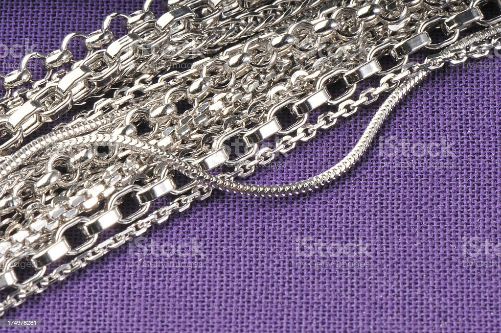 silver chains stock photo