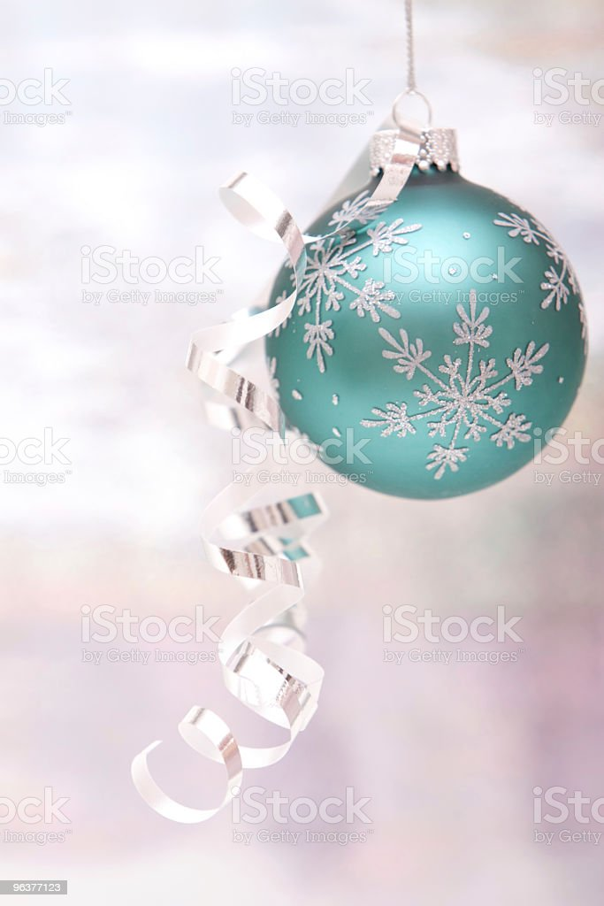 Silver Christmas ornament stock photo