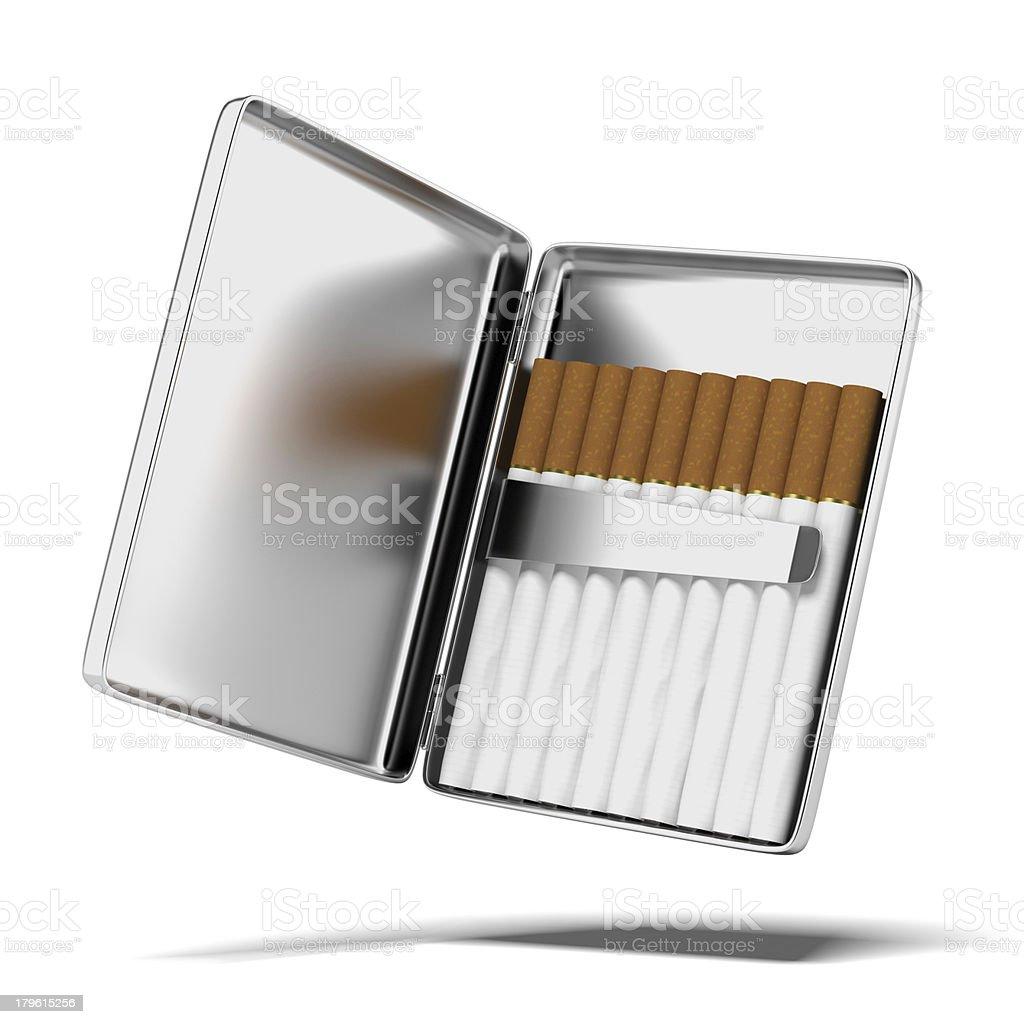 silver cigarette case royalty-free stock photo