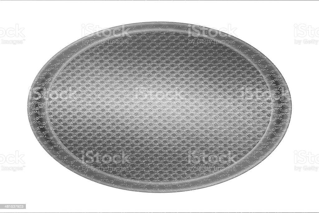 silver circle plate mesh texture stock photo