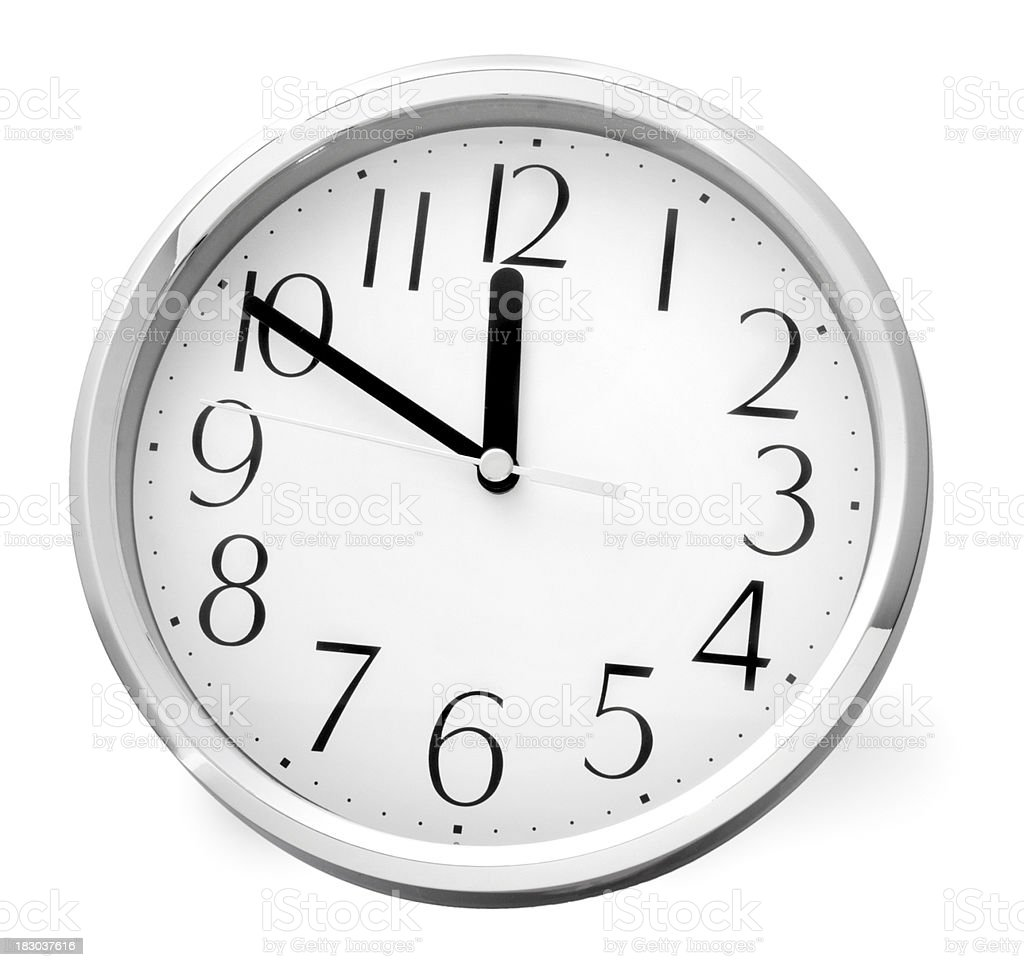Silver Clock stock photo