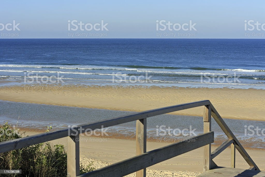 Cote d'Argent - Beach of Mimizan Plage stock photo