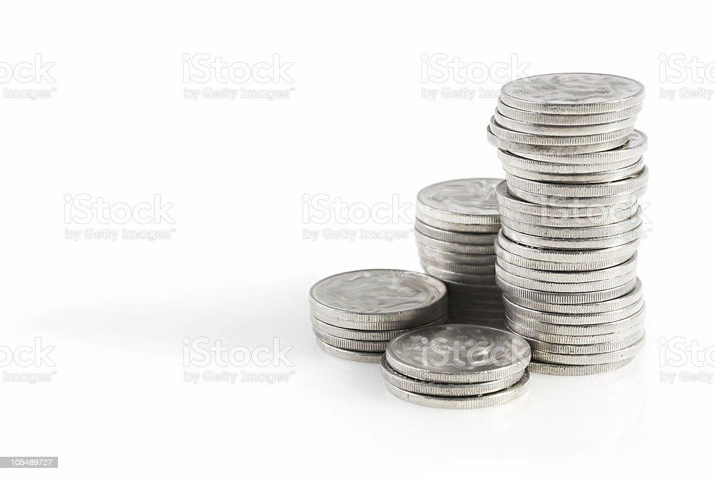 Silver Coins stock photo