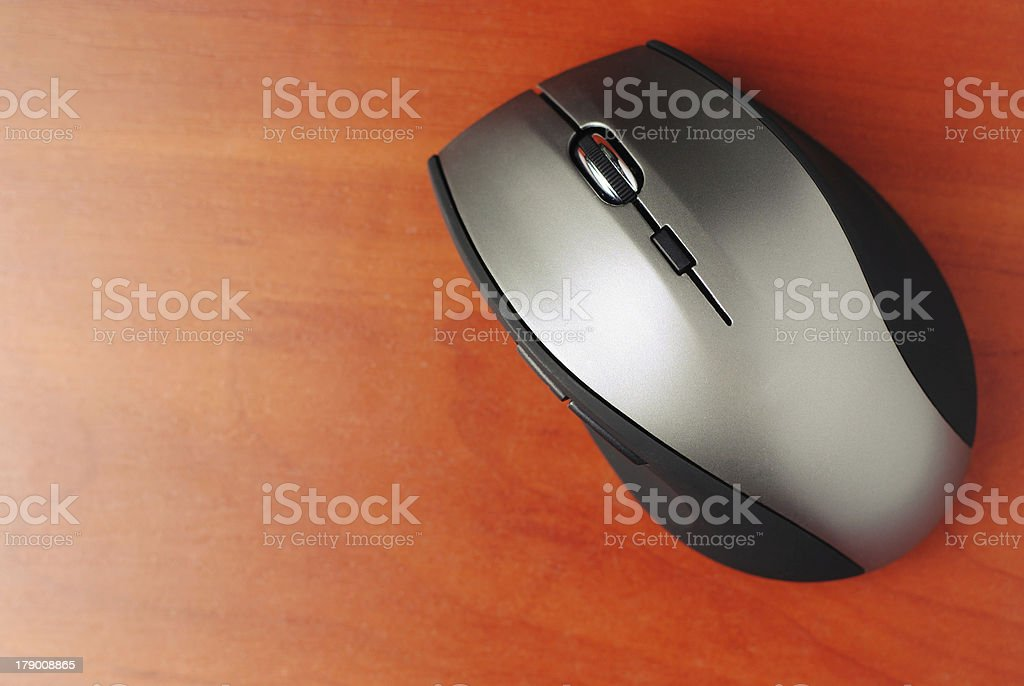 Silver computer mouse royalty-free stock photo