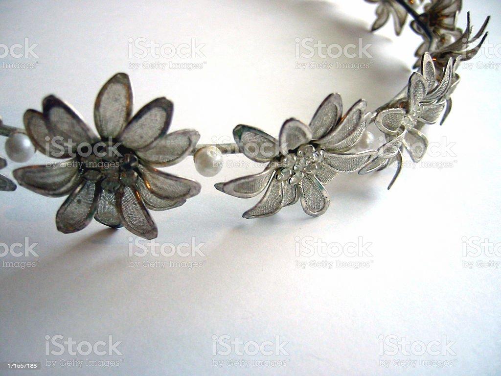 Silver Daisy Tiara royalty-free stock photo