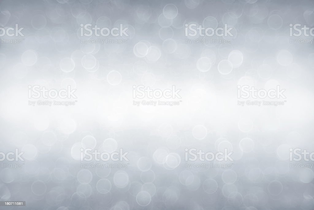 Silver defocused light stock photo