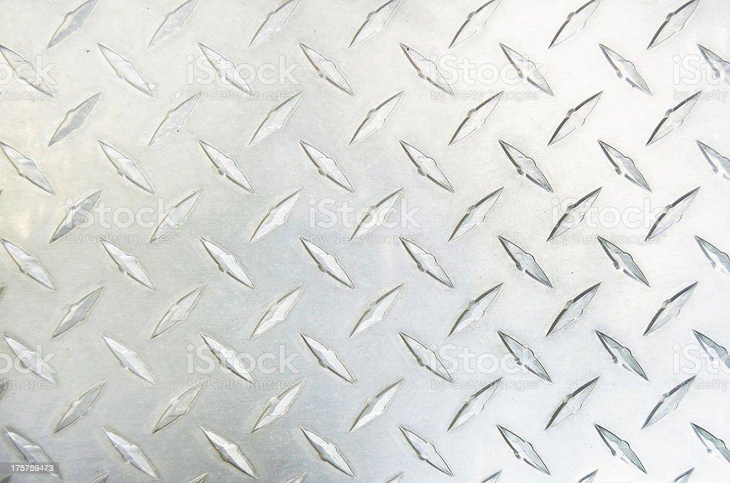 Silver Diamond Plate stock photo
