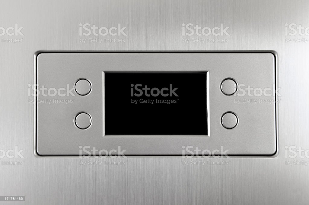 Silver display with four buttons royalty-free stock photo