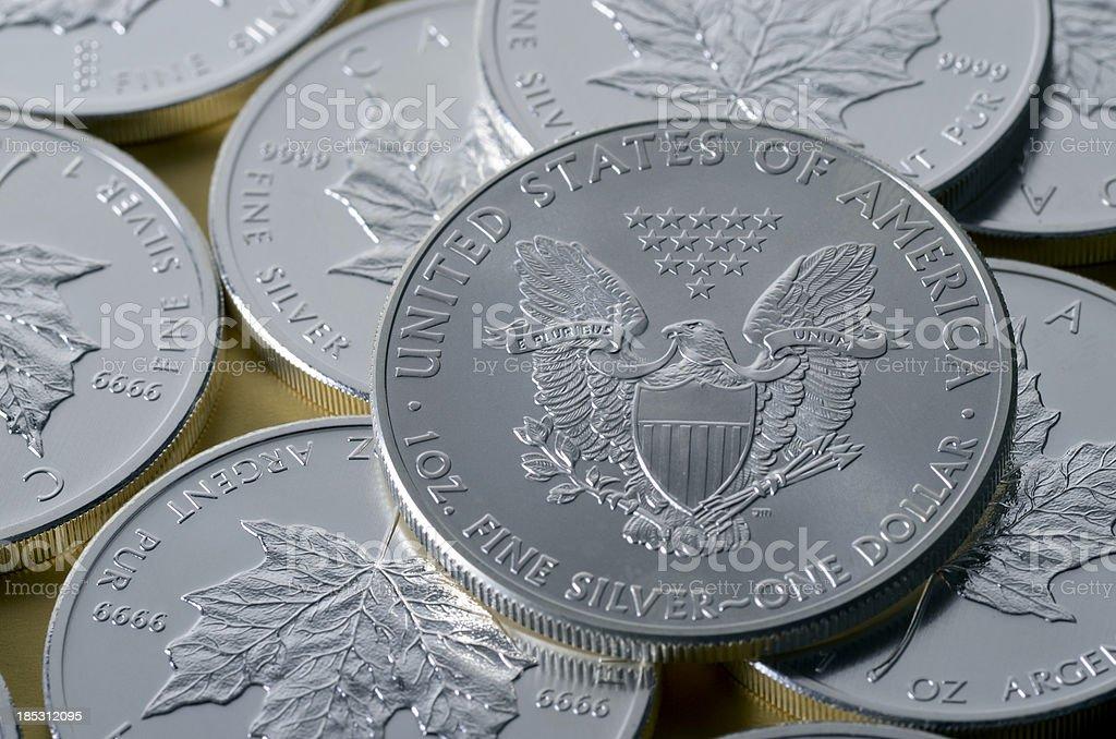 US silver dollar stock photo