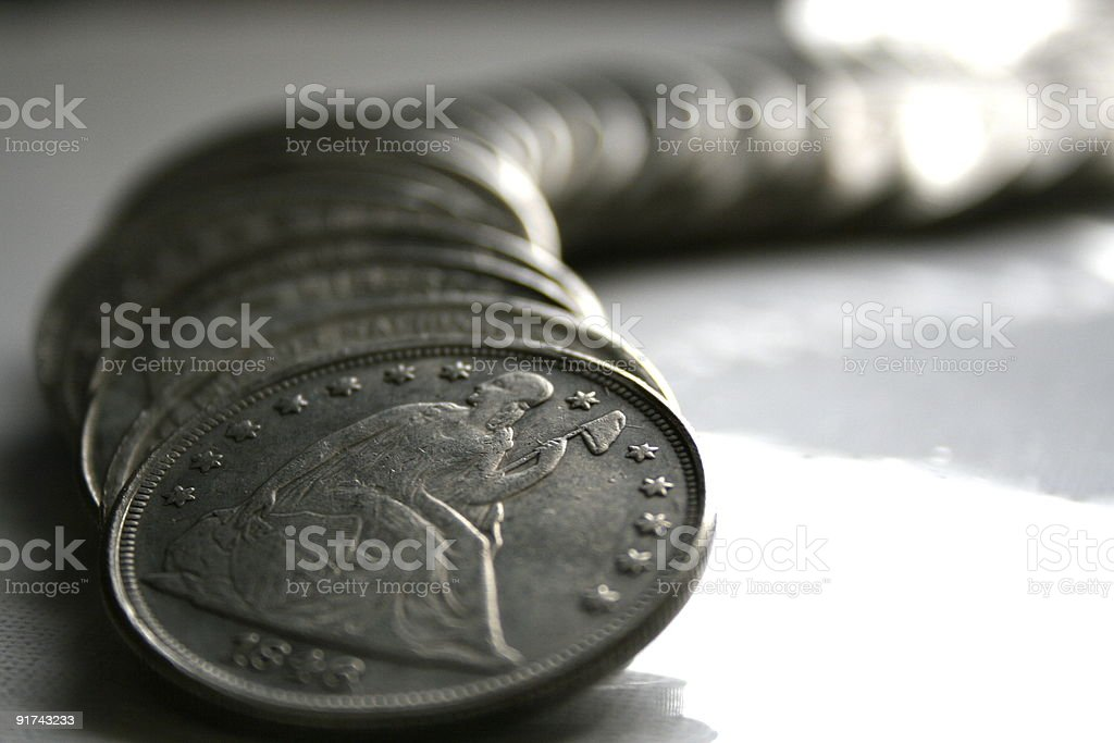 Silver Dollars stock photo