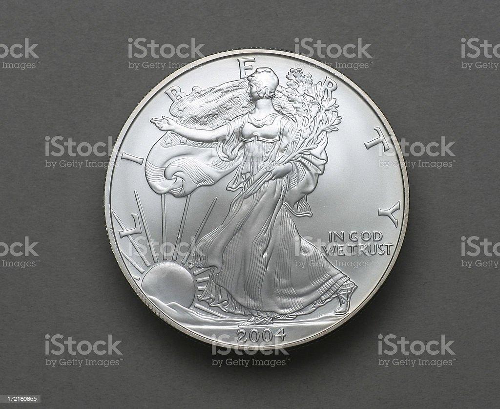 2004 Silver Dolllar-Obverse stock photo