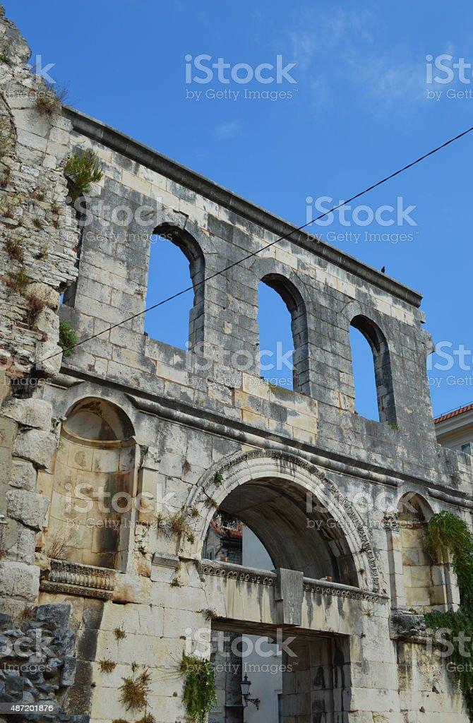 Puerta de plata (Srebrna Vrata diocleziano palace dividido foto de stock libre de derechos