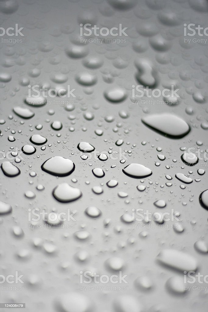 Silver Droplets royalty-free stock photo