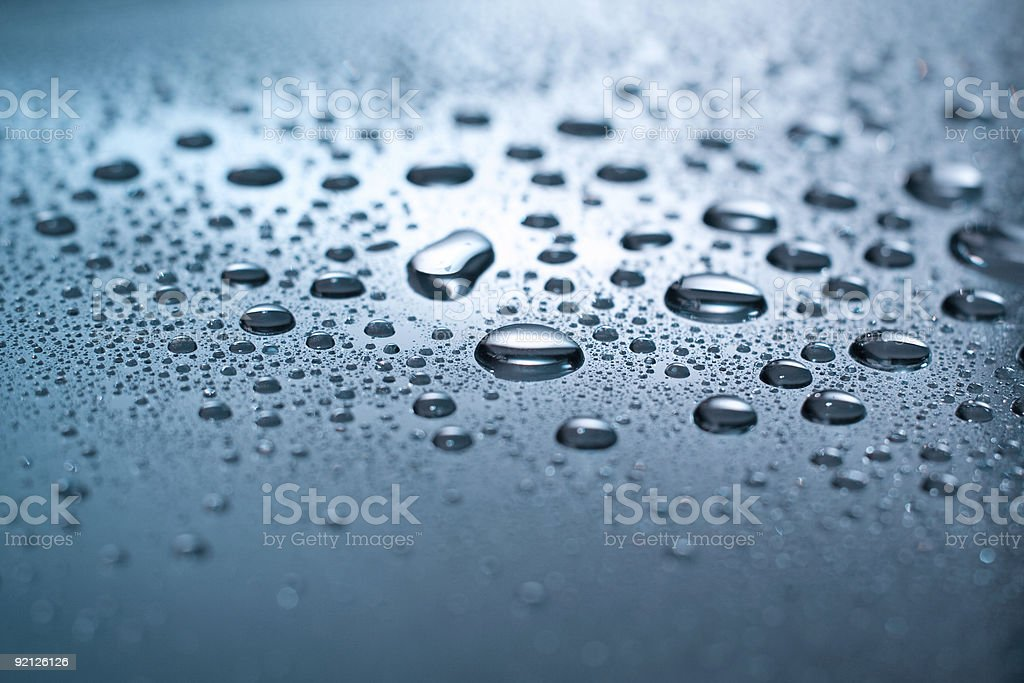 Silver drops royalty-free stock photo