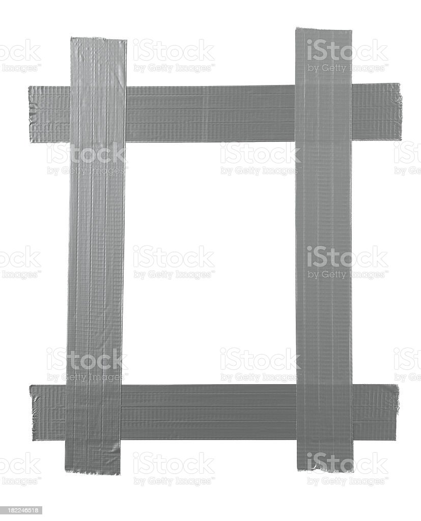 silver duct tape royalty-free stock photo