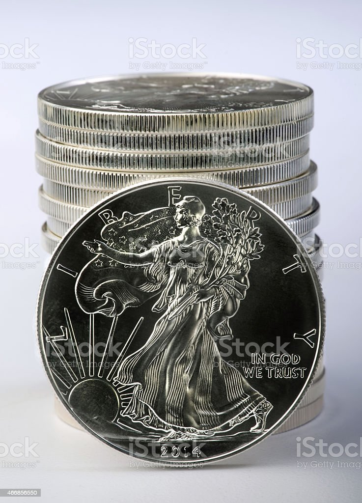 Silver Eagle. stock photo