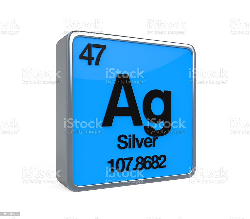 Silver Element Periodic Table stock photo