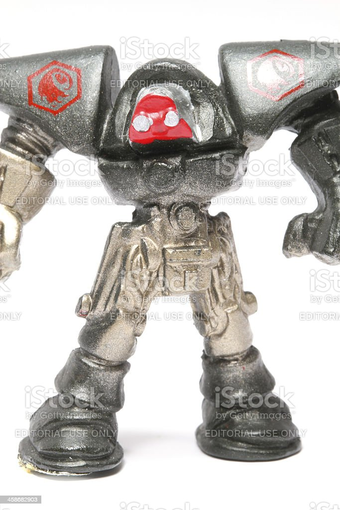 Silver Eyed Robot stock photo