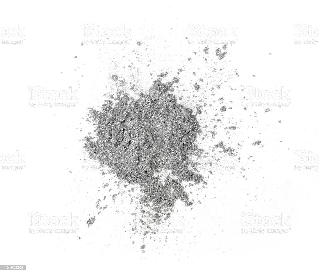 Silver eyeshadow stock photo