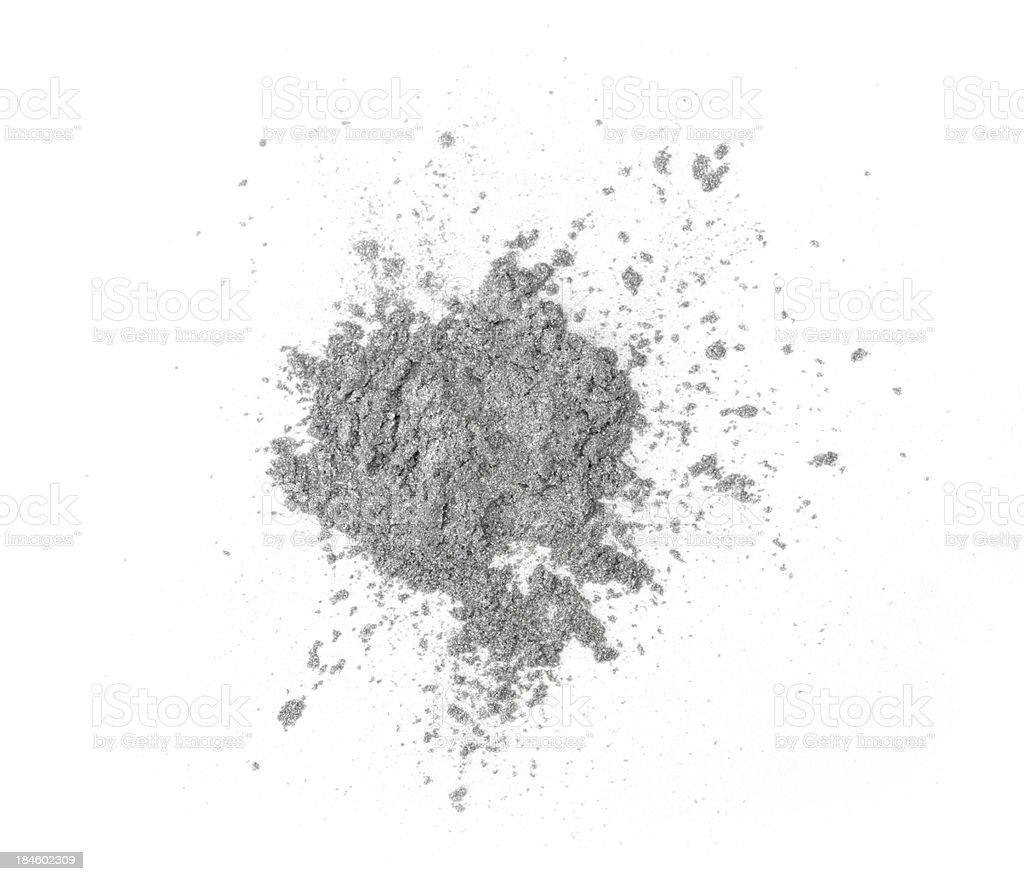 Silver eyeshadow stock photo