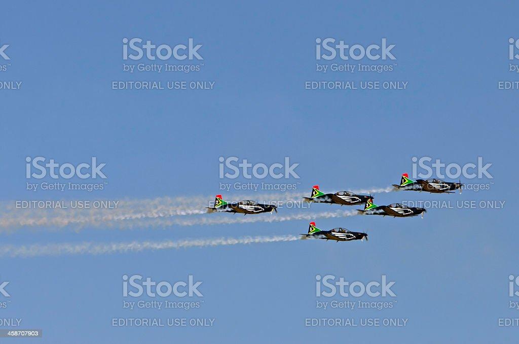 Silver Falcons Formation Aerobatics stock photo