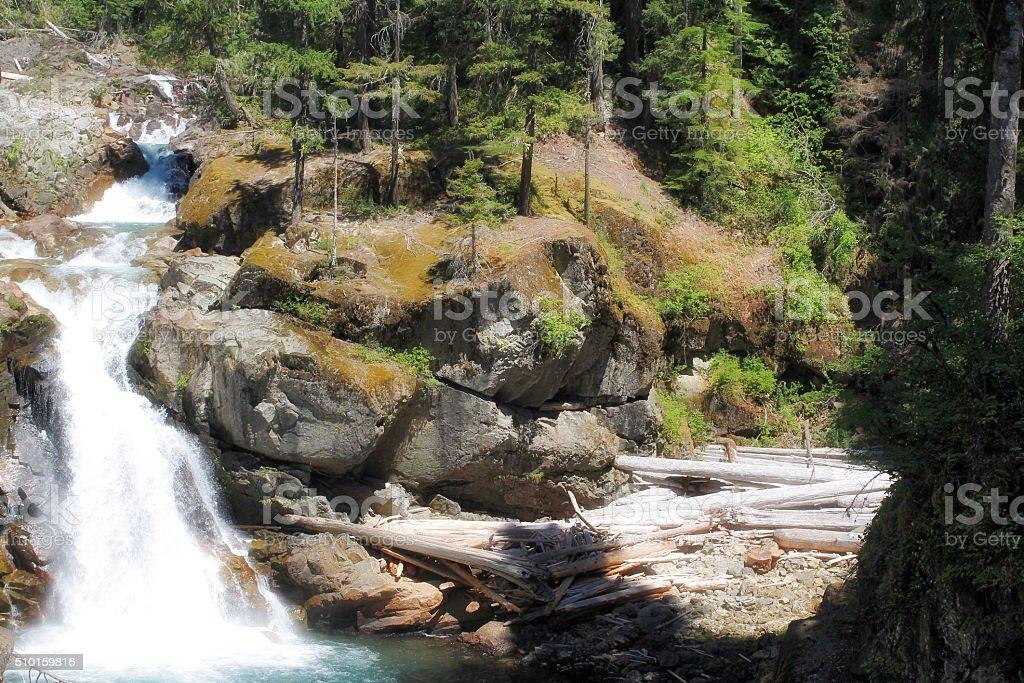 Silver Falls stock photo