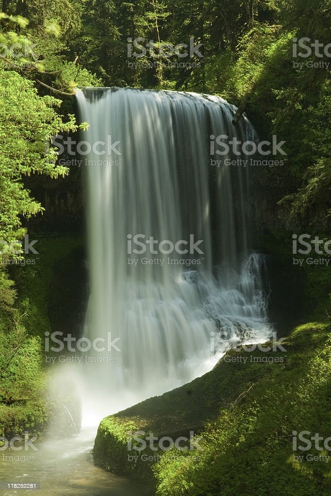 Silver Falls State Park, Middle North Waterfalls royalty-free stock photo