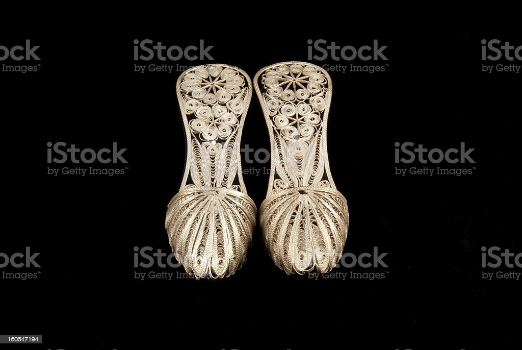 silver filigree royalty-free stock photo