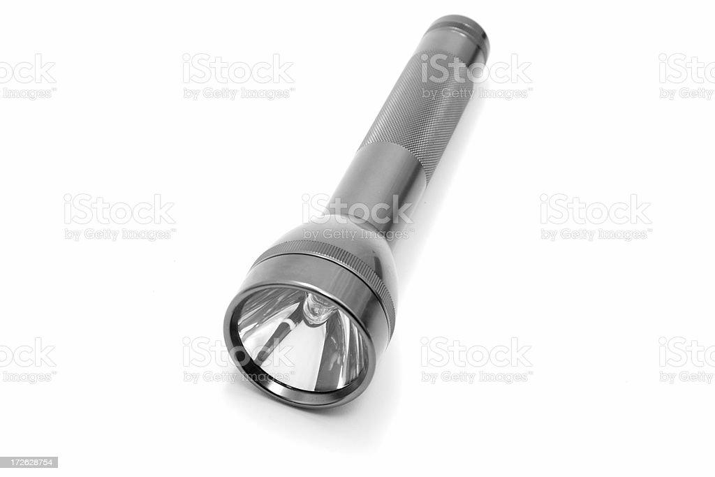 Silver flash light royalty-free stock photo