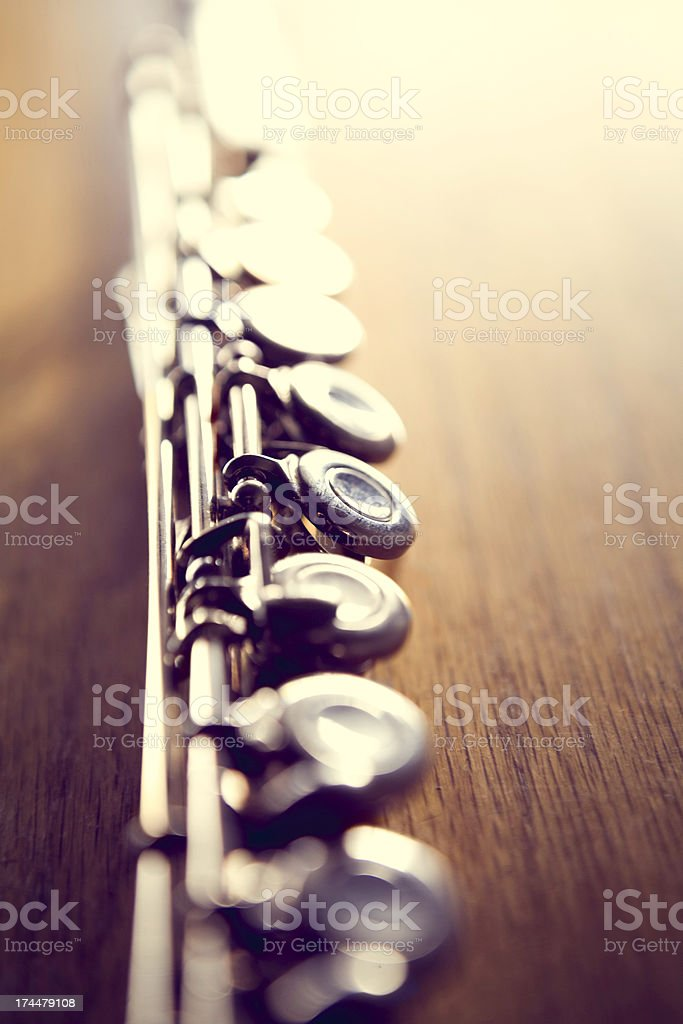 Silver Flute in Sun Light royalty-free stock photo