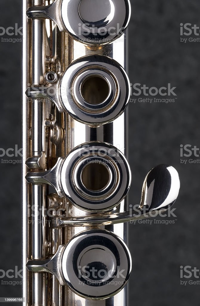 Silver Flute. royalty-free stock photo