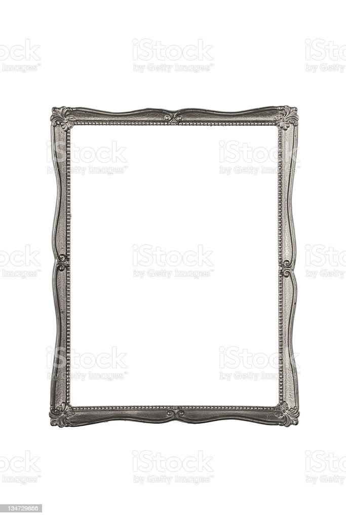 Silver frame fine - XXXL royalty-free stock photo
